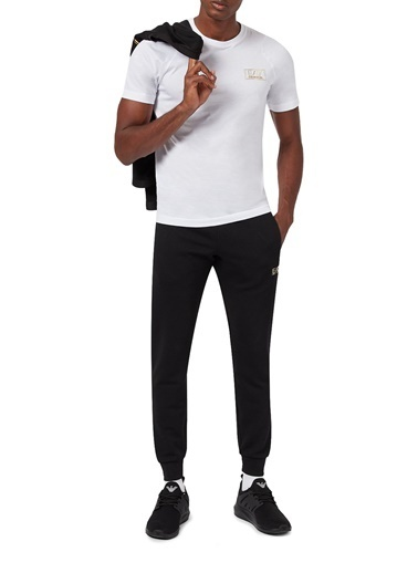 Emporio Armani  Logo Baskılı Bisiklet Yaka % 100 Pamuk T Shirt Erkek T Shırt S 6Hpt45 Pjm9Z 1100 Beyaz
